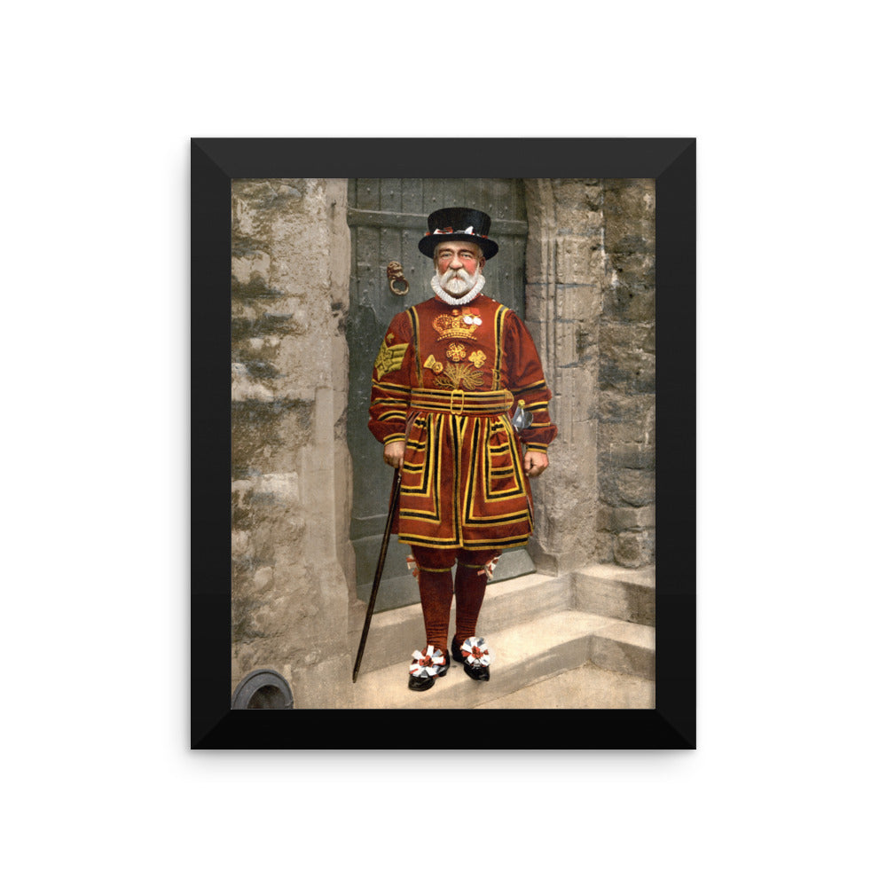 London Beefeater Photo Framed poster
