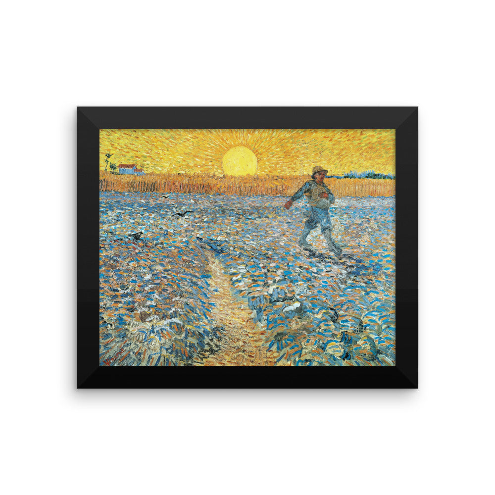 The Sower by Vincent Van Gogh Art Reproduction Framed poster