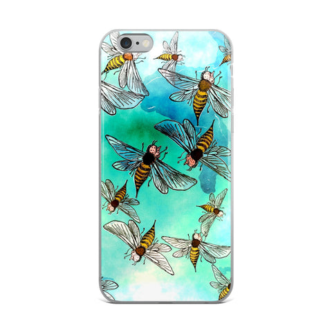 Watercolor Bees iPhone Case