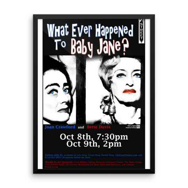"Bette Davis and Joan Crawford ""Whatever Happened to Baby Jane"" Framed Movie Poster"