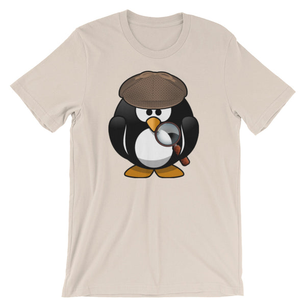 Detective Penguin Short-Sleeve Unisex T-Shirt