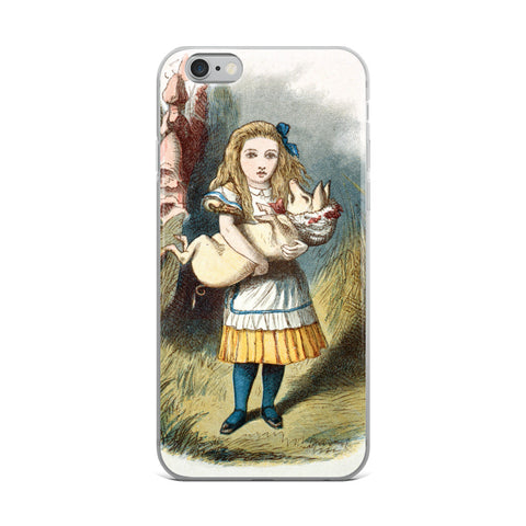 Alice in Wonderland Alice and the Pig iPhone Case