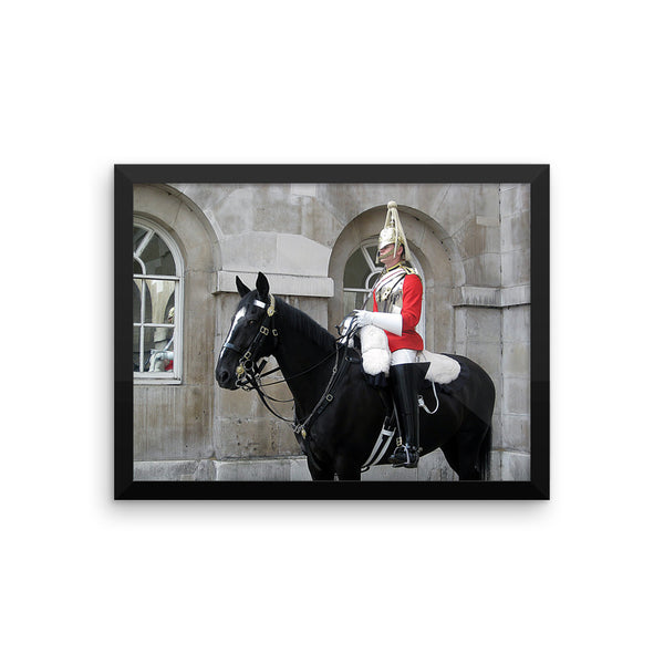 London Guard Photo Art Framed poster