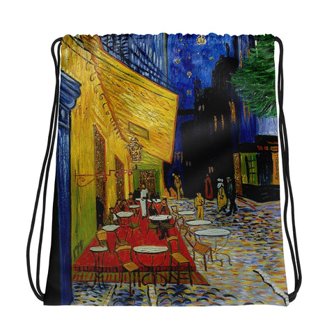 Vincent Van gogh Cafe Drawstring bag