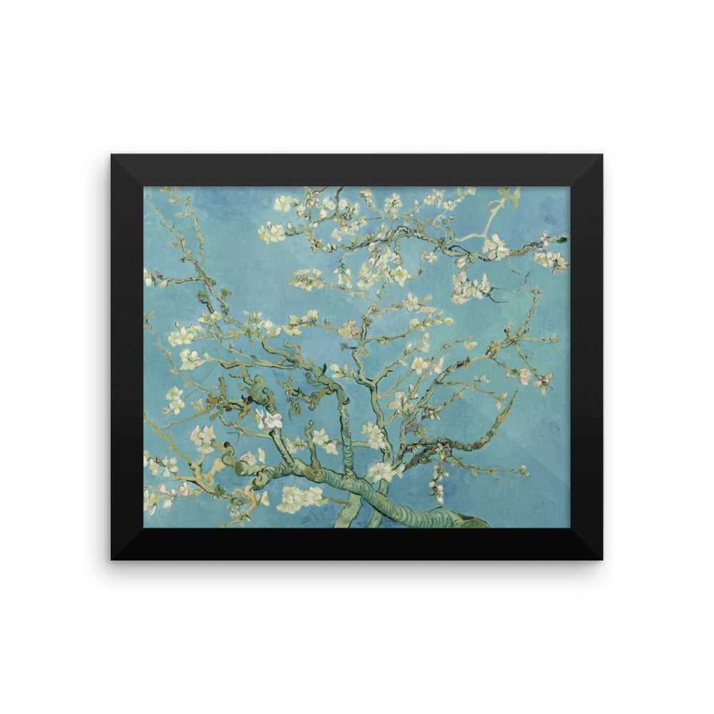 Almond Blossoms by Vincent Van Gogh Art Reproduction Framed poster