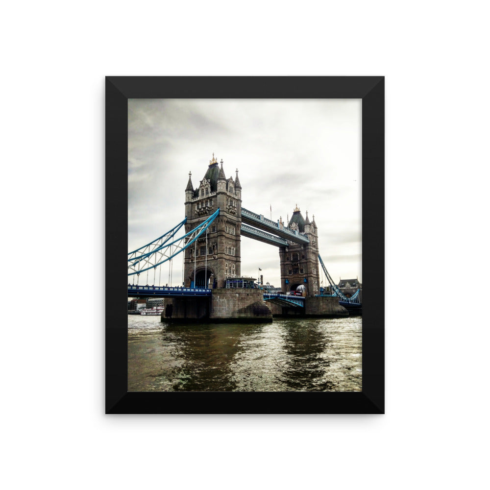 Tower Bridge London Photo Art Framed poster