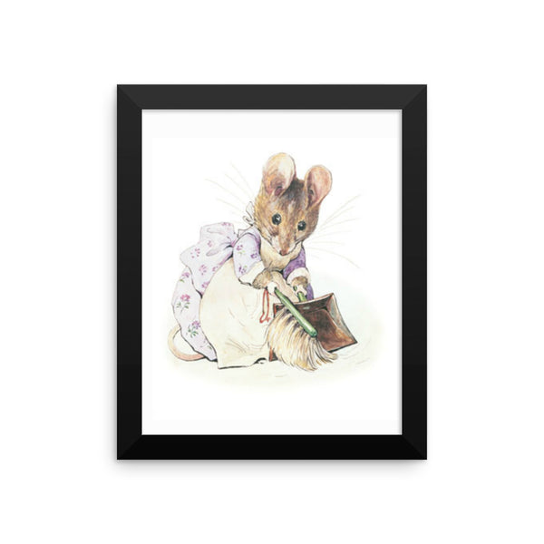 Hunca Munca  Framed Poster, Beatrix Potter Peter Rabbit Framed Art Print