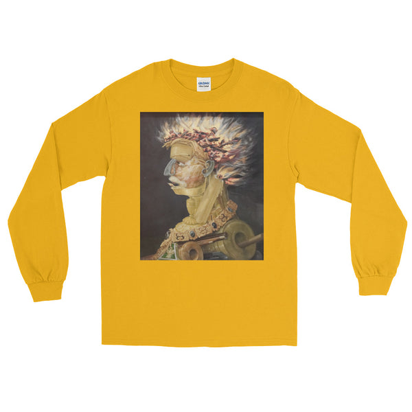 "Giuseppe Arcimboldo ""Fire"" Long Sleeve T-Shirt"