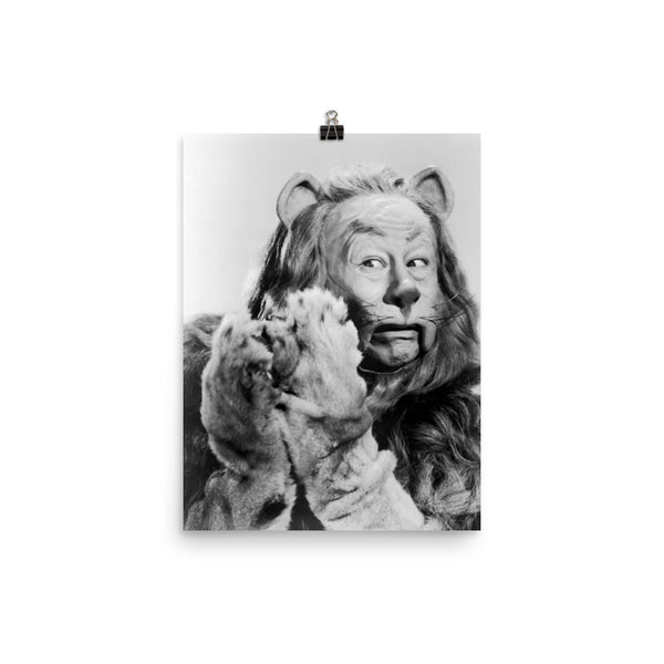 Wizard of Oz Cowardly Lion Poster