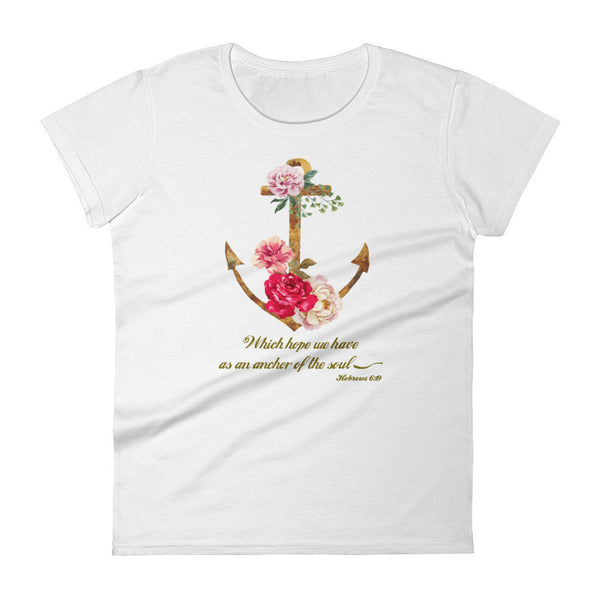 Which Hope We Have As An Anchor Women's short sleeve t-shirt