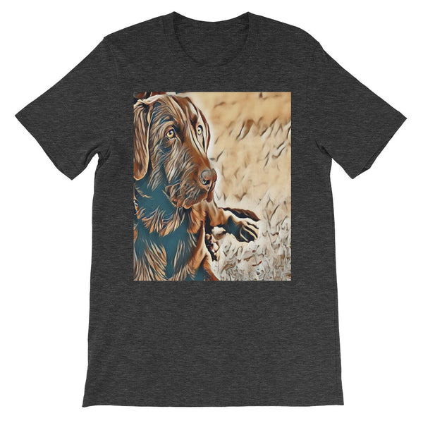 Dog Art Print Unisex short sleeve Tee Shirt
