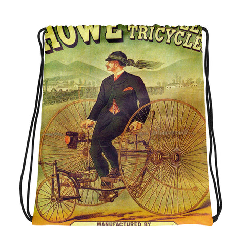 Vintage Bicycle Ad Drawstring bag, Backpack