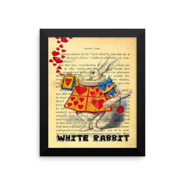 Alice in Wonderland White Rabbit Framed Poster, Wall Decor
