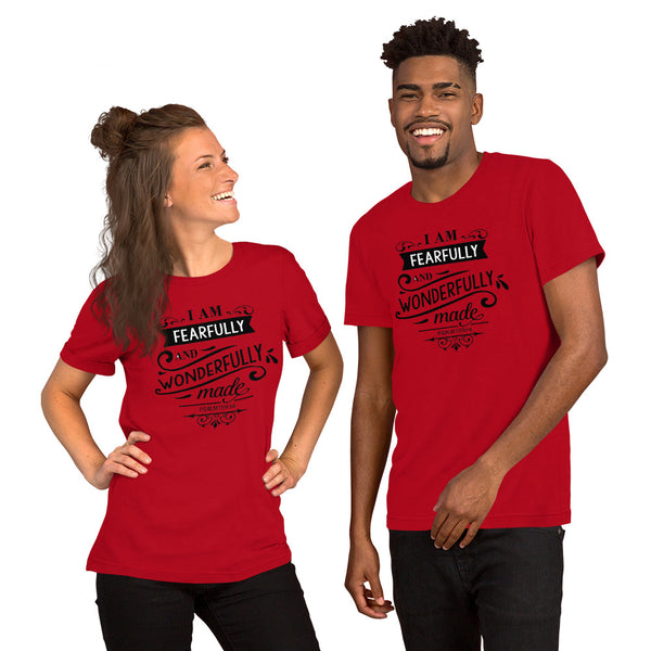 Fearfully and Wonderfully Made Christian Short-Sleeve Unisex T-Shirt