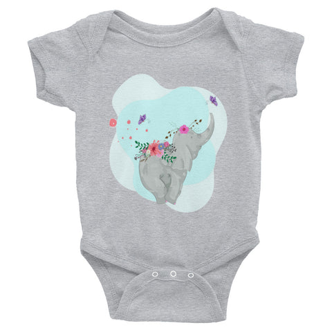 Boho Baby Elephant Infant Bodysuit