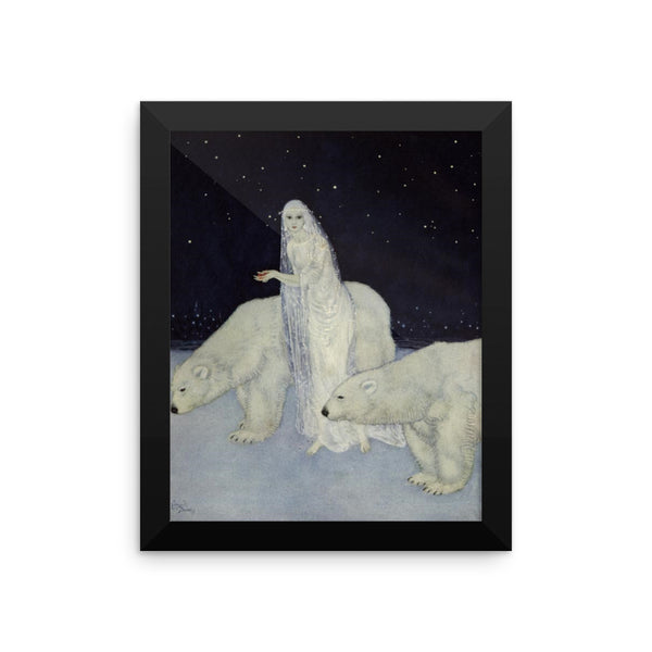 Everything About Her Was White Vintage Edmund Dulac Art Print/ Poster Wall Art, Framed Poster, Framed Wall Decor