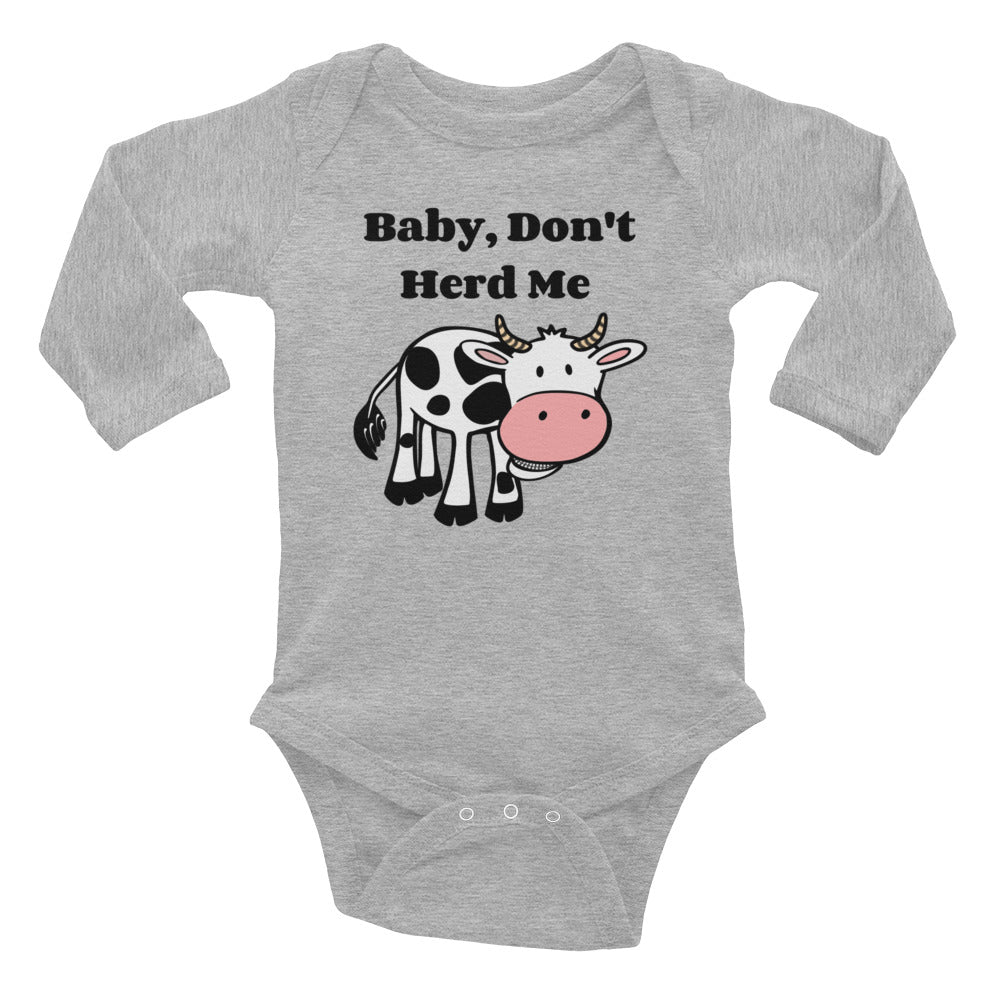 Baby Don't Herd Me Infant Long Sleeve Bodysuit