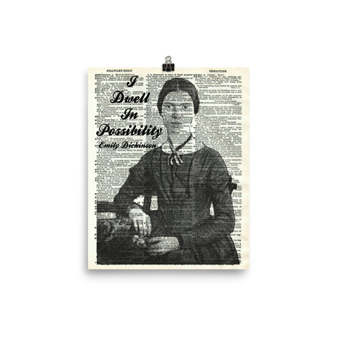 Emily Dickinson Dictionary Art Print Poster