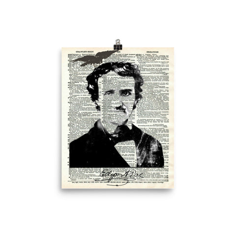 Edgar Allan Poe Dictionary Art Print Poster