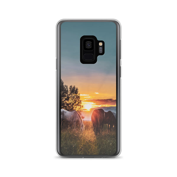 Horses in Sunset Samsung Case