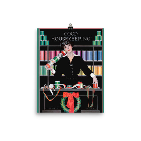 Coles Phillips Poster Vintage Good Housekeeping Christmas Poster