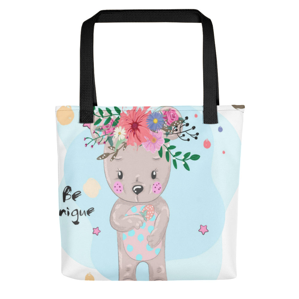 Adorable Boho Baby Bear Tote bag
