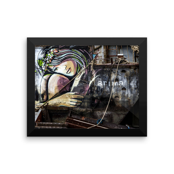 London Graffiti Photo Art Framed poster