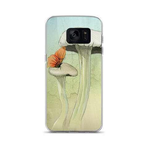 Mushrooms and Butterfly Samsung Case