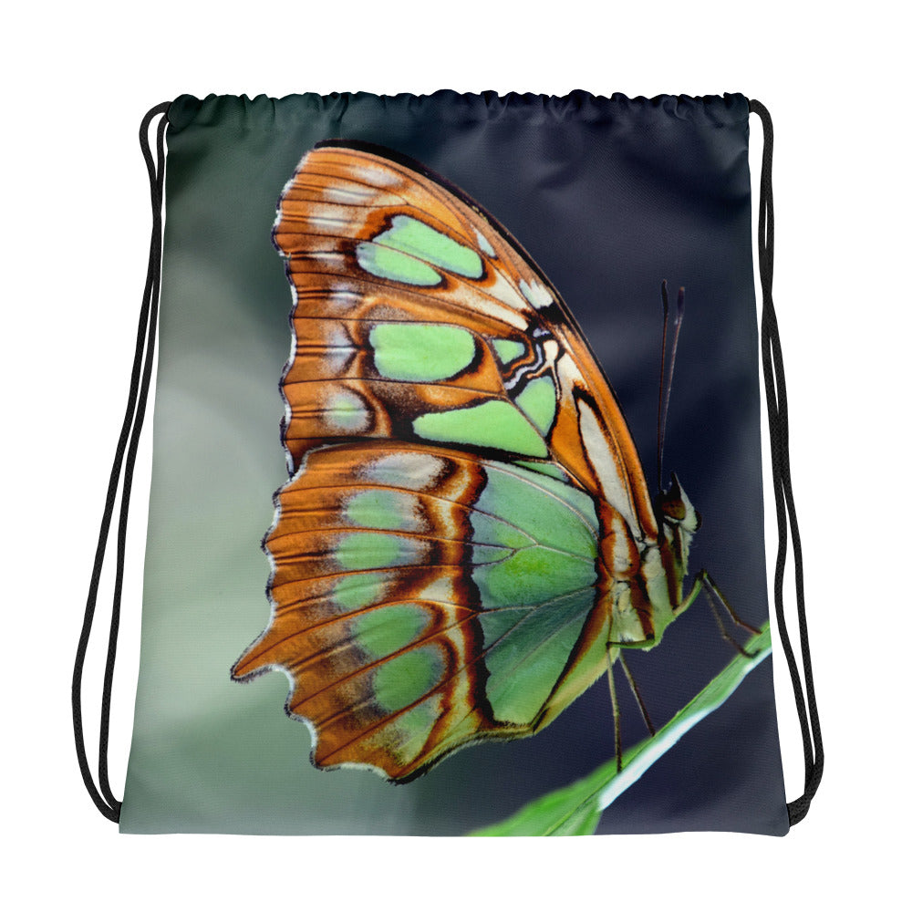 Butterfly Drawstring Backpack Bag