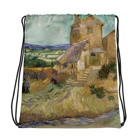 Vincent Van Gogh Mill Drawstring bag