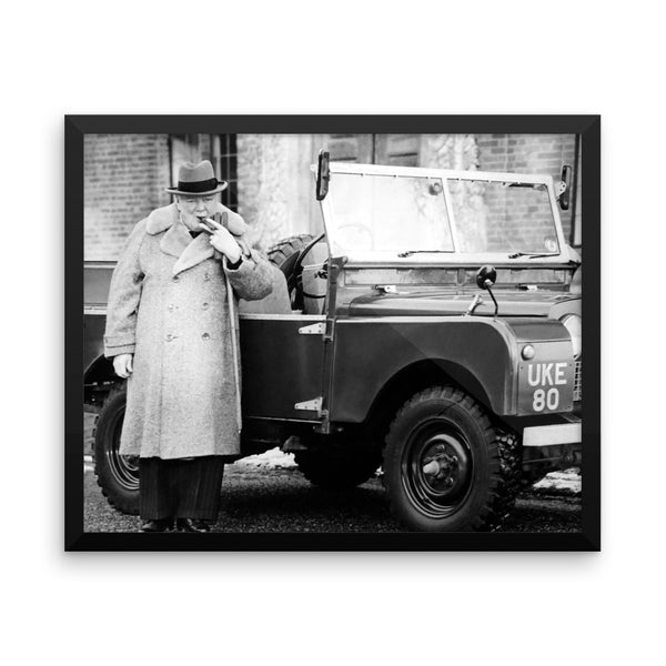 Winston Churchill Photo Framed poster