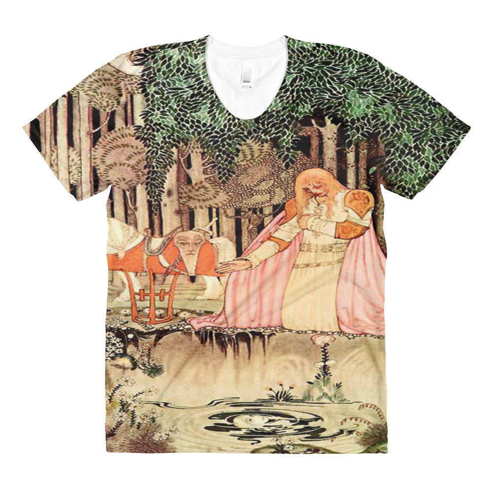 Kay Nielsen Vintage Fairy Tale Sublimation women's crew neck Tee Shirt