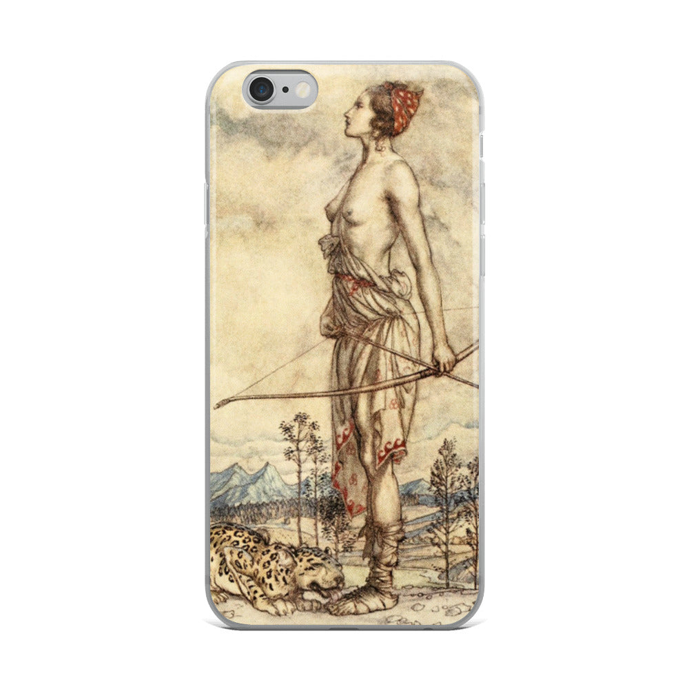 Arthur Rackham Diana of the Hunt iPhone Case
