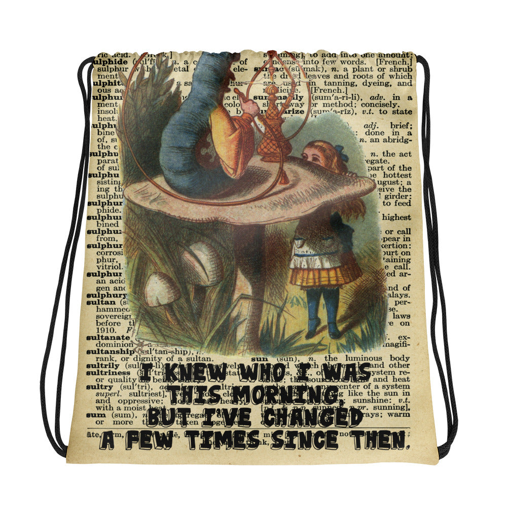 Alice in Wonderland Caterpillar Drawstring bag
