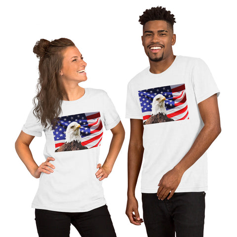 Eagle American Flag Patriotic Short-Sleeve Unisex T-Shirt