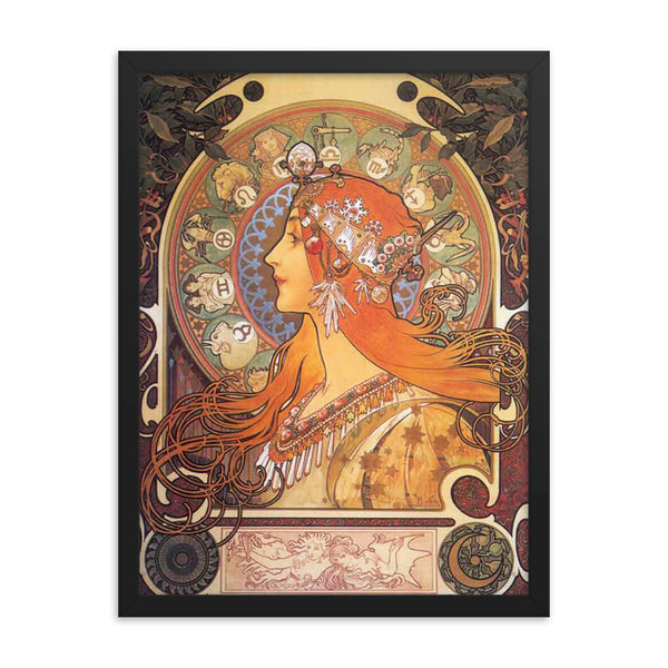 Alphonse Mucha Art Reproduction Framed poster