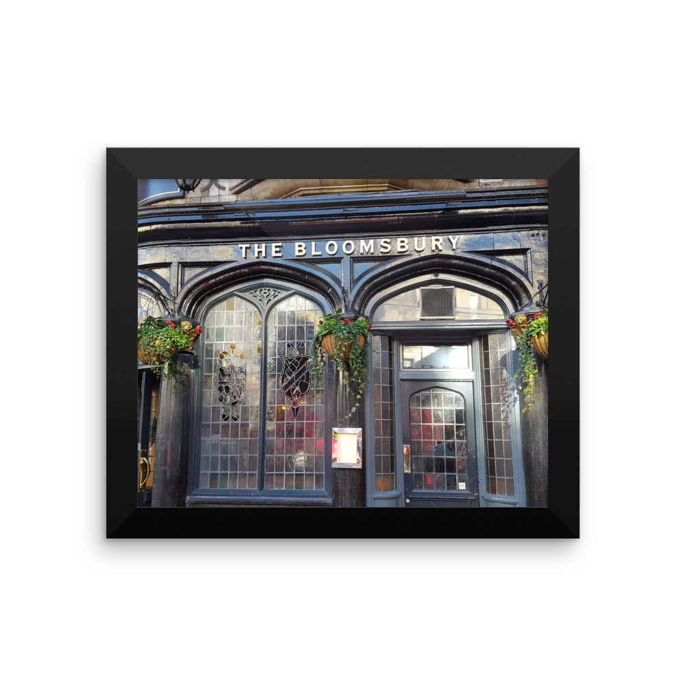 Bloomsberry Pub London Reproduction Art Framed poster