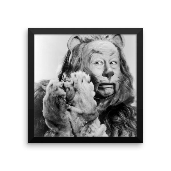 Wizard of Oz Cowardly Lion Framed Poster