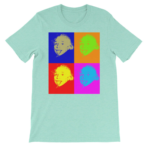 Einstein Pop Art Short-Sleeve Unisex T-Shirt
