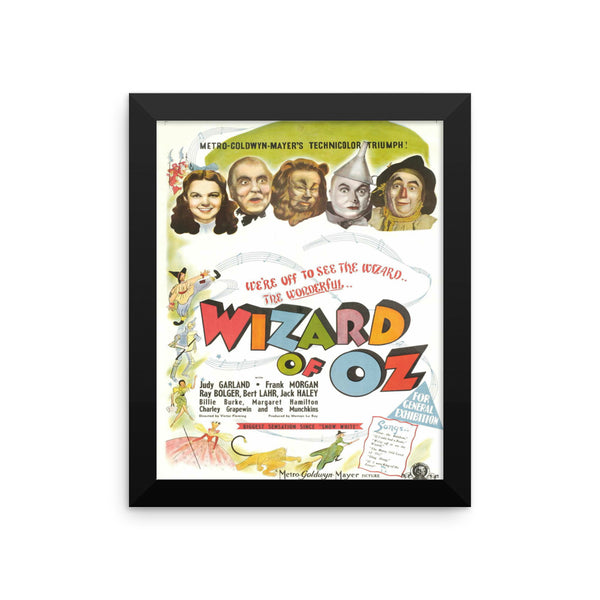 Wizard of Oz Vintage Movie Framed Poster