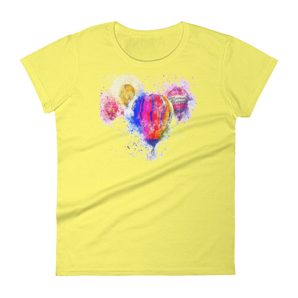 Women's short sleeve t-shirt Watercolor Balloons