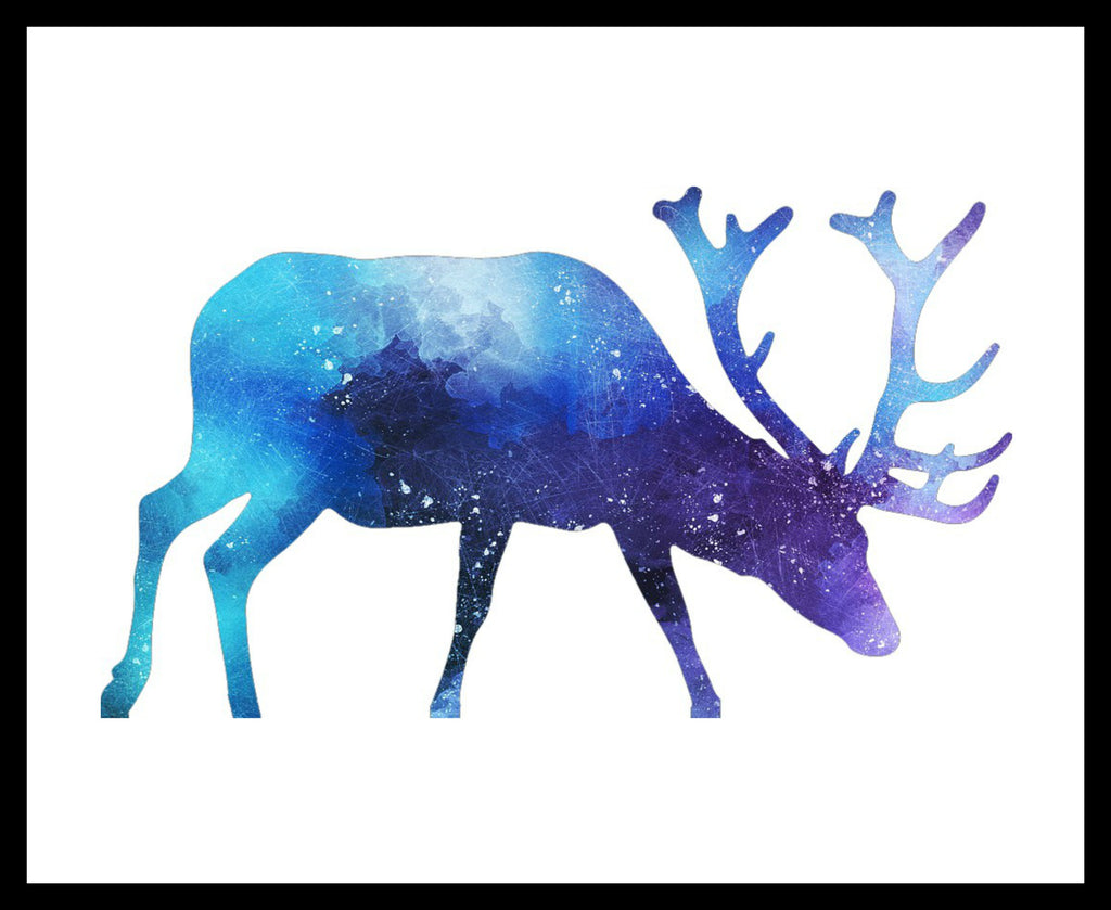 Printed Watercolor Art Print Moose Poster Art Image Unframed