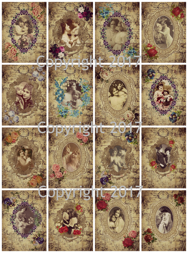 Mother and Child Framed Images Collage Sheet 101 for Mother's Day