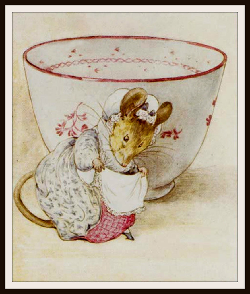 Mouse and a Tea Cup by Beatrix Potter Art Print 8 x 10""