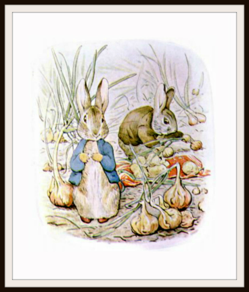 Benjamin Bunny and Peter Rabbit by Beatrix Potter Art Print 8 x 10""