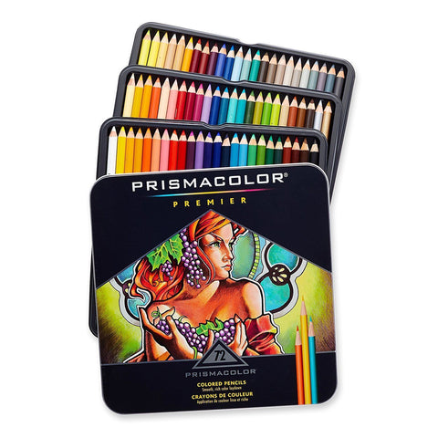 Prismacolor Premier Colored Pencils, 72 Assorted Color Pencils