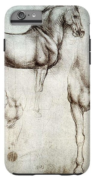 Study Of A Horse By Leonardo Da Vinci - Phone Case