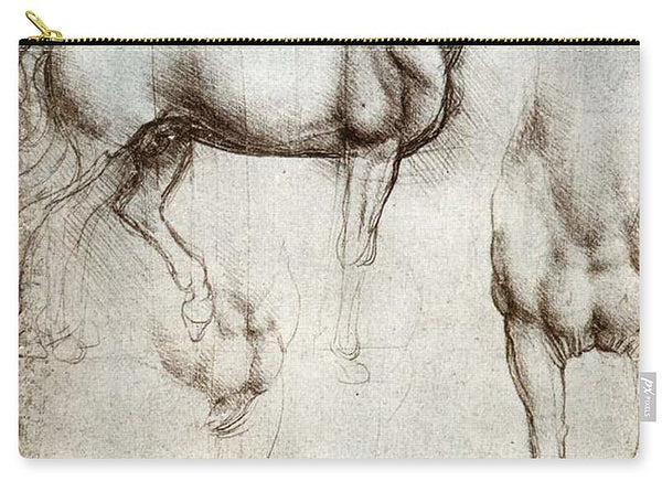 Study Of A Horse By Leonardo Da Vinci - Carry-All Pouch