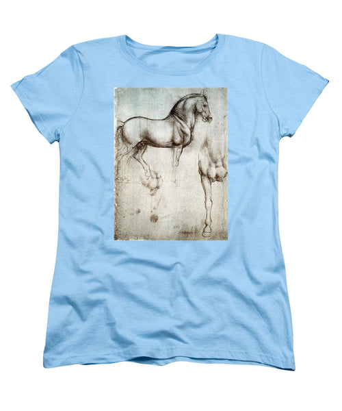 Study Of A Horse By Leonardo Da Vinci - Women's T-Shirt (Standard Fit)