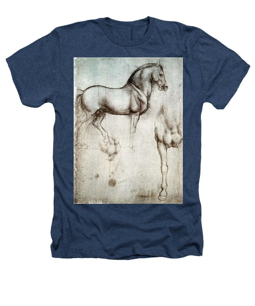 Study Of A Horse By Leonardo Da Vinci - Heathers T-Shirt